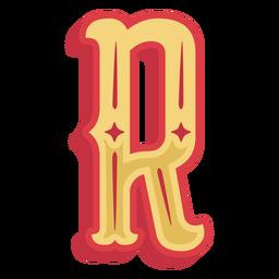 Icono de letra r abc mexicana