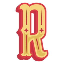 Mexican abc letter r icon