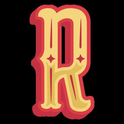 Icono de letra r abc mexicano