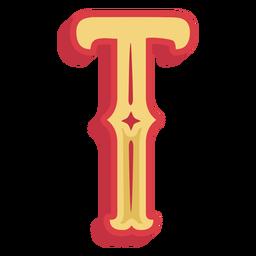 Abc mexicano letra t ícone
