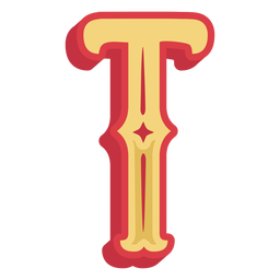 Mexican abc letter t icon