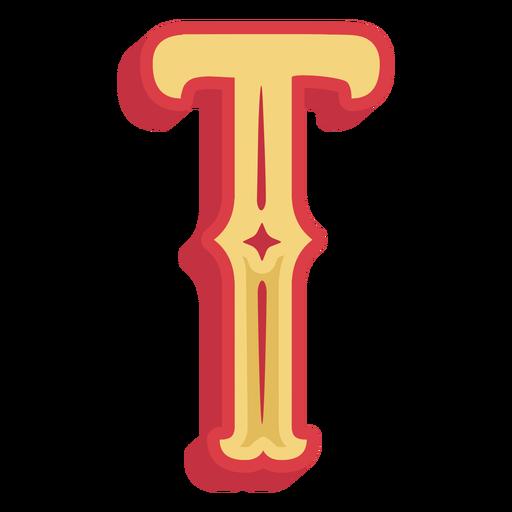 Icono de letra t abc mexicana Transparent PNG