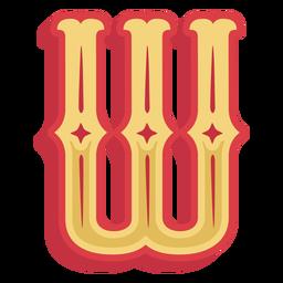 Abc mexicano letra w ícone