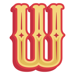 Mexican abc letter w icon