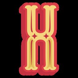 Icono de letra x abc mexicano