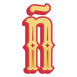 Mexican abc letter ñ icon