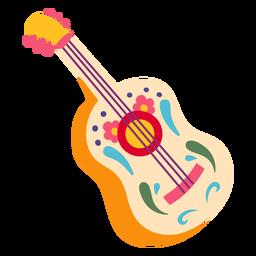 Ilustración decorativa acústica de guitarra mexicana
