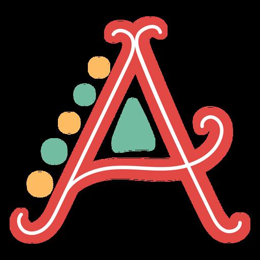Icono de letra mexicana abc a