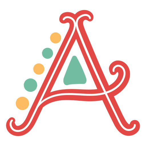 Mexican letter abc a icon Transparent PNG