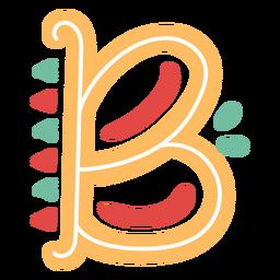 Letra mexicana abc b ícone