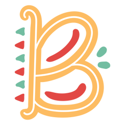 Mexican letter abc b icon