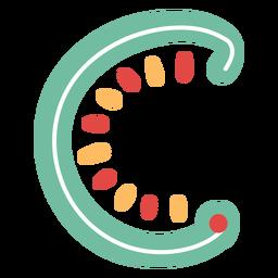 Mexikanischer Buchstabe ABC C-Symbol