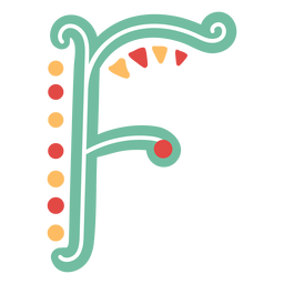Mexican letter abc f icon