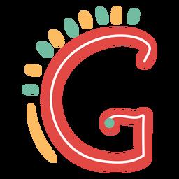Icono de letra mexicana abc g