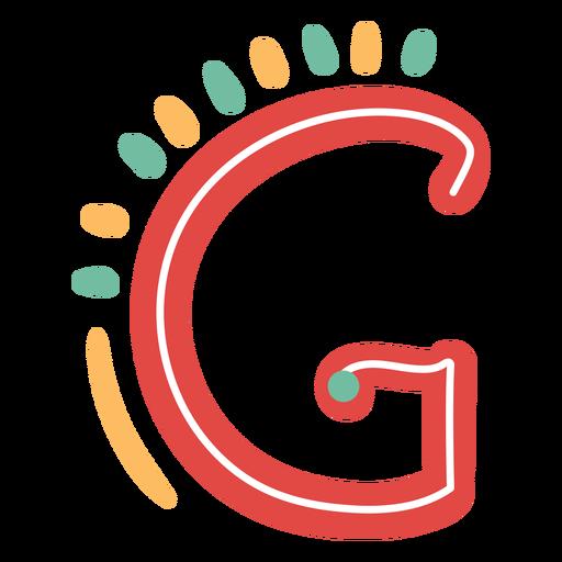 Icono de letra mexicana abc g Transparent PNG