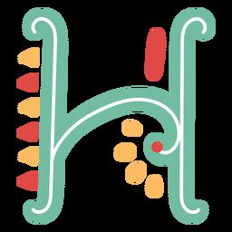 Icono de letra mexicana abc h
