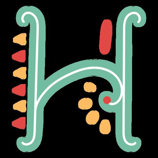 Icono de letra mexicana abc h Transparent PNG