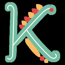 Ícone da letra abc k mexicana