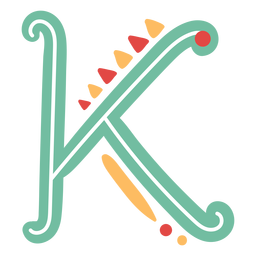 Mexican letter abc k icon