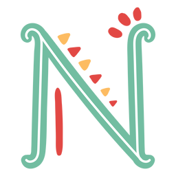 Mexican letter abc m icon