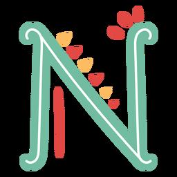 Mexikanischer Buchstabe abc m-Symbol