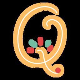 Letra mexicana abc q ícone