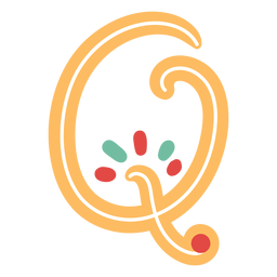 Mexican letter abc q icon