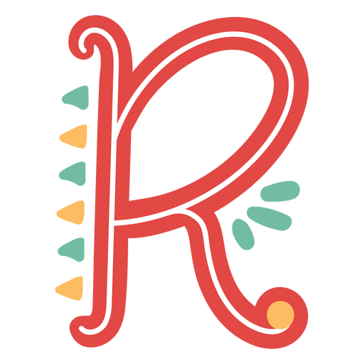 Icono de letra mexicana abc r