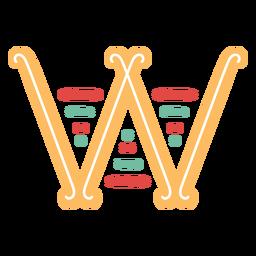 Mexikanischer Buchstabe ABC W-Symbol