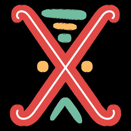 Icono de letra mexicana abc x Transparent PNG