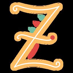 Letra mexicana abc z ícone