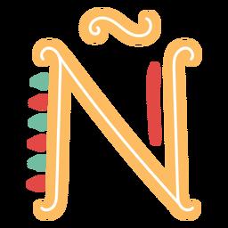 Letra mexicana abc ñ ícone