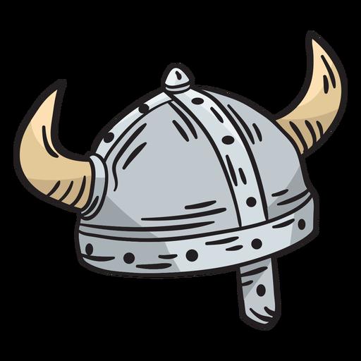 Ilustración de casco vikingo sueco de suecia