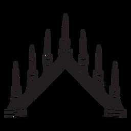 Candelabro sueco velas negras
