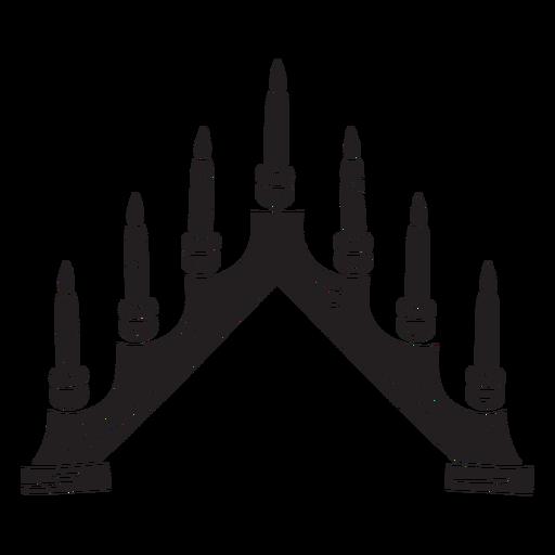 Candelabro sueco velas negras Transparent PNG