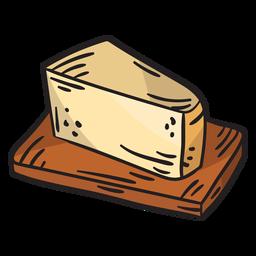 Ilustración deliciosa comida de queso sueco