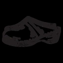 Zuecos suecos trazo de calzado con estilo