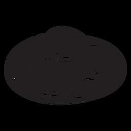 Comida de pão sírio sueca cozido preto