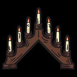 Swedish candelabra traditional candles illustration