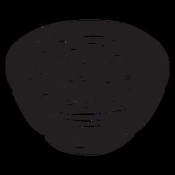 Bircher muesli de avena suiza negro