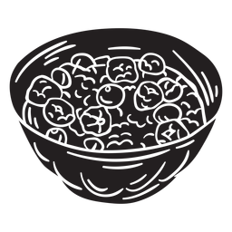 Swiss oatmeal bircher muesli black