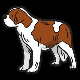 Ilustração animal de cão de montanha suíça