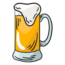 Ilustración gaseosa espumosa de cerveza Suiza