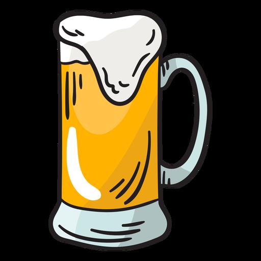 Switzerland beer foamy fizzy illustration