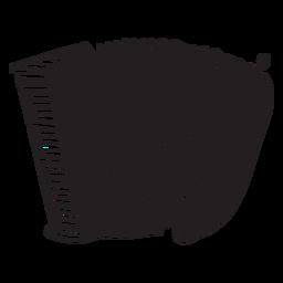 Instrumento musical acordeón negro