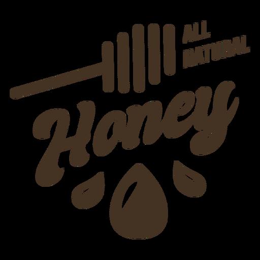 All natural honey badge