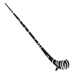 Alpine horn alpenhorn alphorn horn black