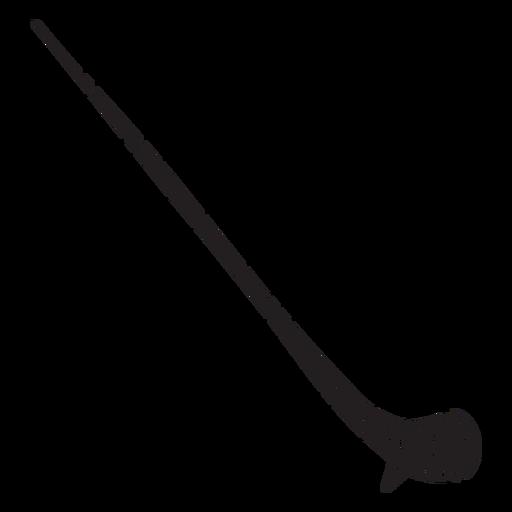 Alpine horn alpenhorn alphorn horn black Transparent PNG
