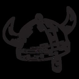 Curso de viking de capacete antigo