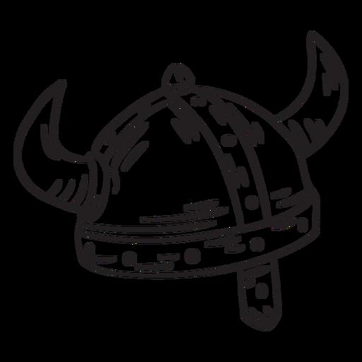 Ancient helmet viking stroke